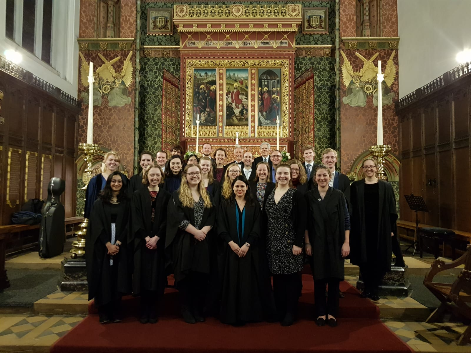 Choral Evensong at Queens', 3 March 2019.